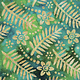 Bali Tropical garden - Palm Floral Turquoise (84)