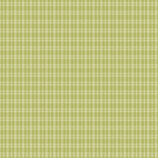 Benartex Butterfly Garden - Plaid Lime (41)