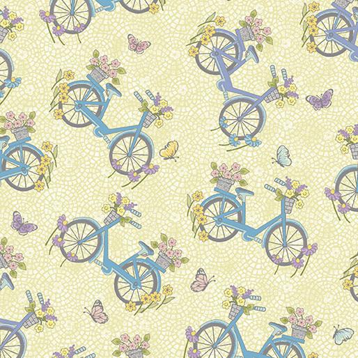 Benartex Butterfly Garden - Bicycles Lemon (6130)