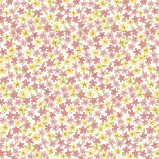 Benartex Butterfly Garden - Spring Floral Rose (7221)