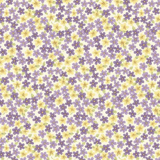 Benartex Butterfly Garden - Spring Floral Grape (7260)