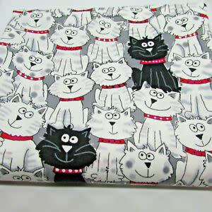 Timeless Treasures Black & White Cats - C3040