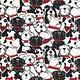 Timeless Treasures Black & White Dogs - 6988