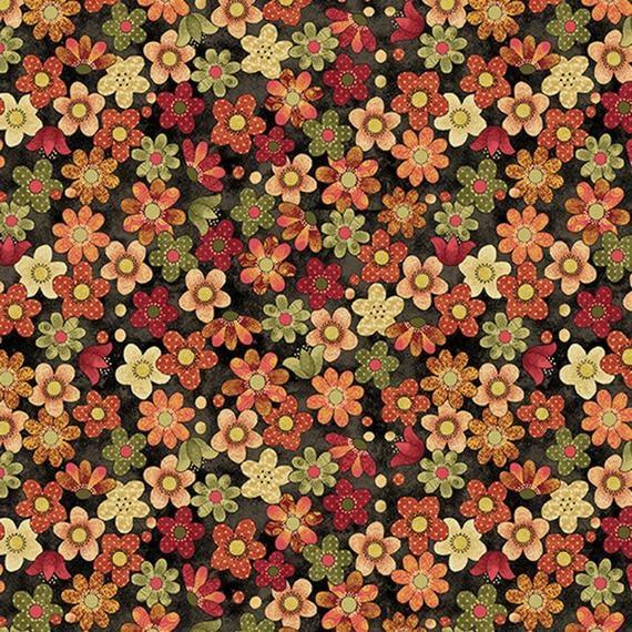 Benartex Crafty Cats - Flowers 107787