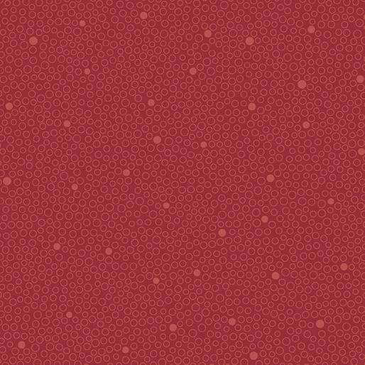 Benartex Circle Dot Red - 680810