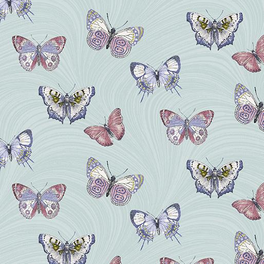 Benartex Butterfly Wave Light Teal - 6733P04