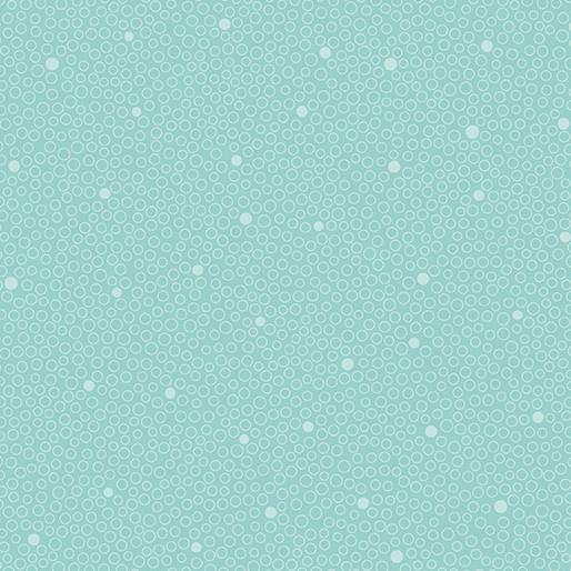 Benartex Circle Dot Aqua - 680824