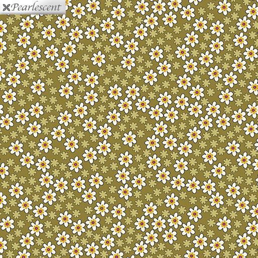 Benartex Bonnie Lane Mustard - 6706P42
