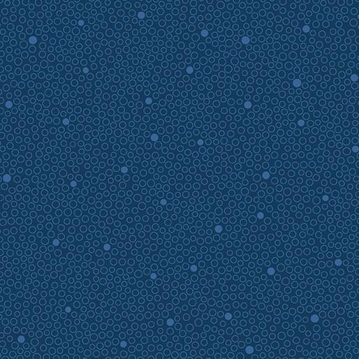 Benartex Circle Dot Navy - 680811