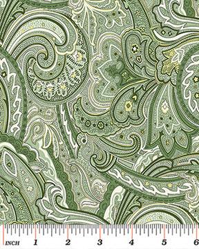 Benartex Avignon Paisley Green - 442344