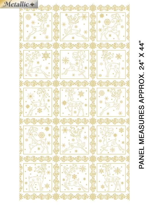 Deer Festival Panel White&Gold - 6870M09