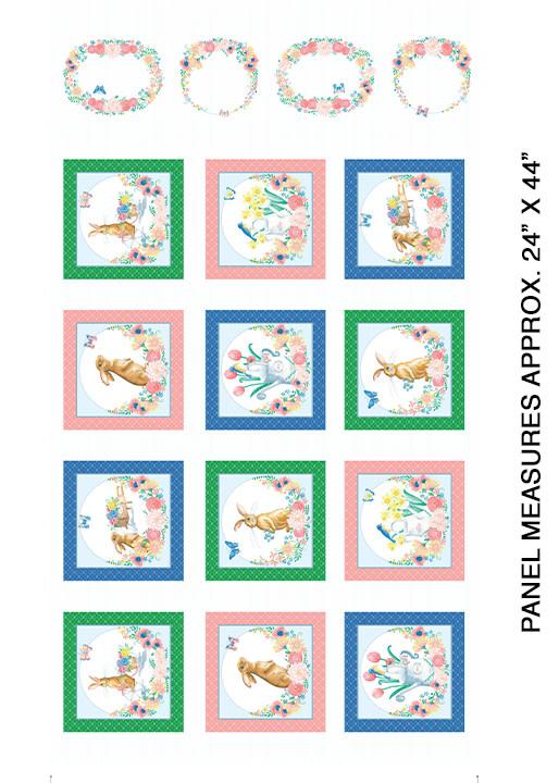 Kanvas Bunnies & Blossoms Panel - 968809