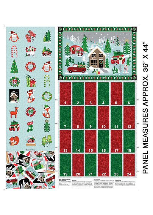 Benartex Camp Joy Advent Calendar Panel - 799699