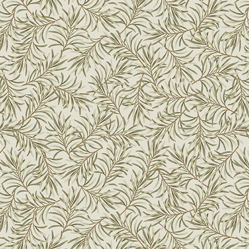 Benartex Boughs of Beauty Taupe/Green - 9661W74