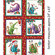 Benartex Cat-I-tude Christmas Paisley Panel - 6741M10