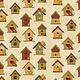 Benartex Birdhouses Cream - 311307