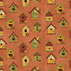 Benartex Chicks on the Run Birdhouses Spice - 311379