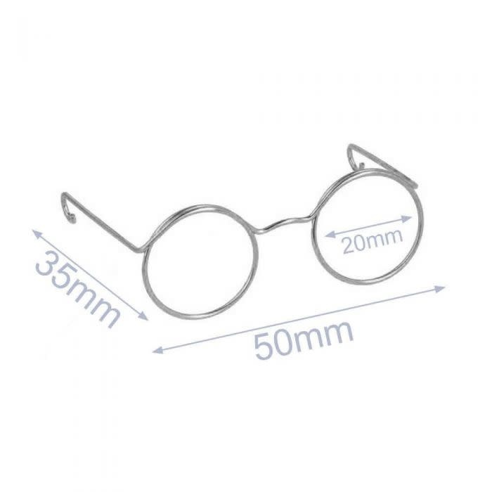 Bril Voor Knuffels 5cm Nikkel