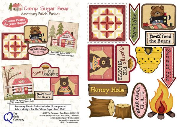 Quiltcompany Camp Sugar Bear - Patronen  incl. Accesoires