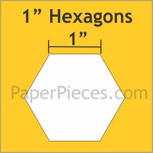 """Paper Pieces 1"""" Hexagon Large - 600 Pieces"""