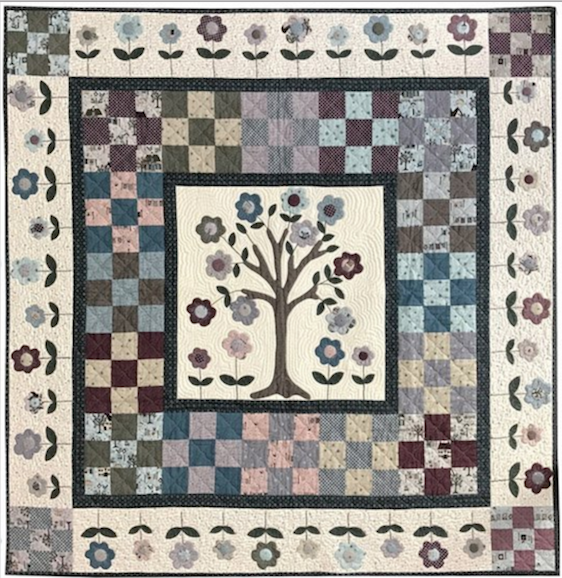 Lynette Anderson Designs Cherry Tree Quilt - Patroon