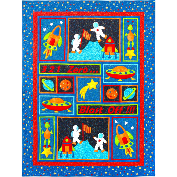 Kids Quilts Blast Off - Boys Bed Quilt Patroon