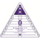 Marti Michell 60-degree Triangle Ruler - 2 to 6 inches finished
