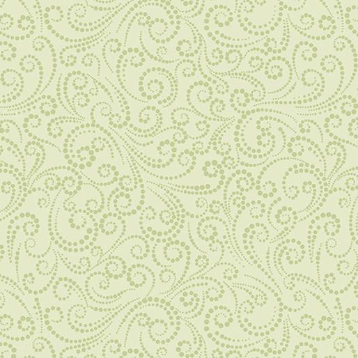 Benartex Dotted Scroll Celery - 687540