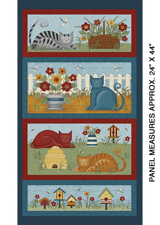 Benartex Colorful Cats Panel Multi - 1022099