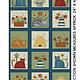 Benartex Colorful Cats Sq. Panel Multi - 1022199