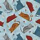 Benartex Colorful Cats Sky - 1022250