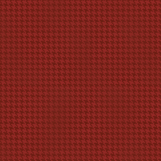 Benartex Blushed Houndstooth Red - 756410