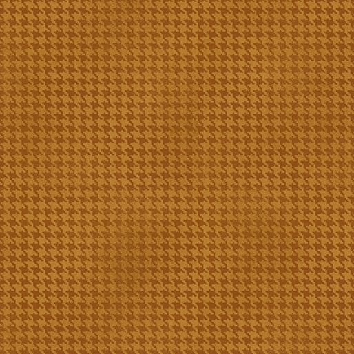 Benartex Blushed Houndstooth Pumpkin - 756438