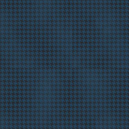 Benartex Blushed Houndstooth Dark Blue - 756455