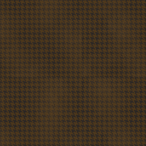 Benartex Blushed Houndstooth Chocolate - 756478
