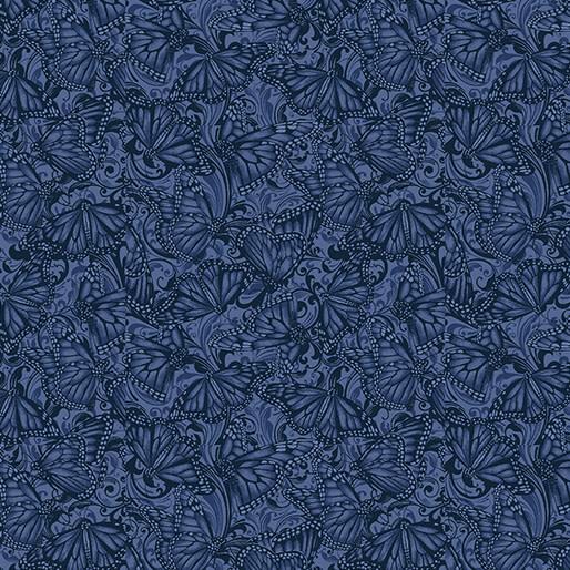 Benartex Butterfly Fields Indigo - 1021754