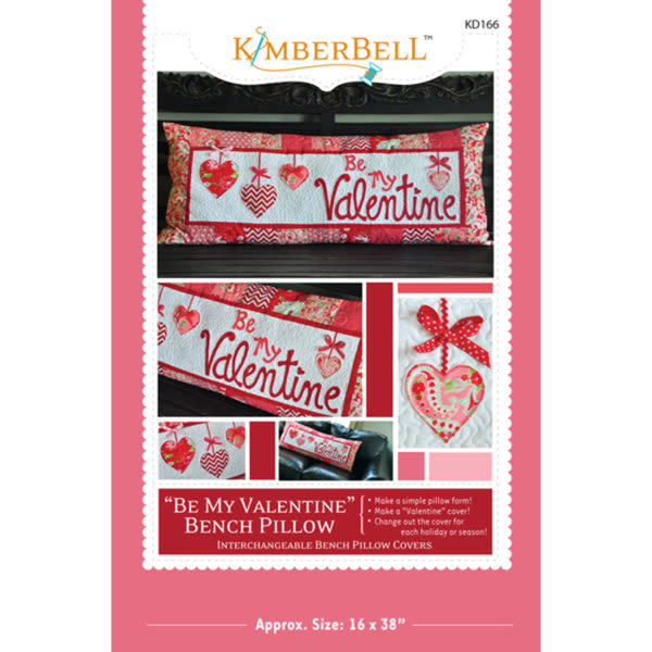 KimberBell Be My Valentine Bench Pillow Patroon