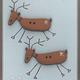 Cheeky Reindeer - Hand Painted Wood