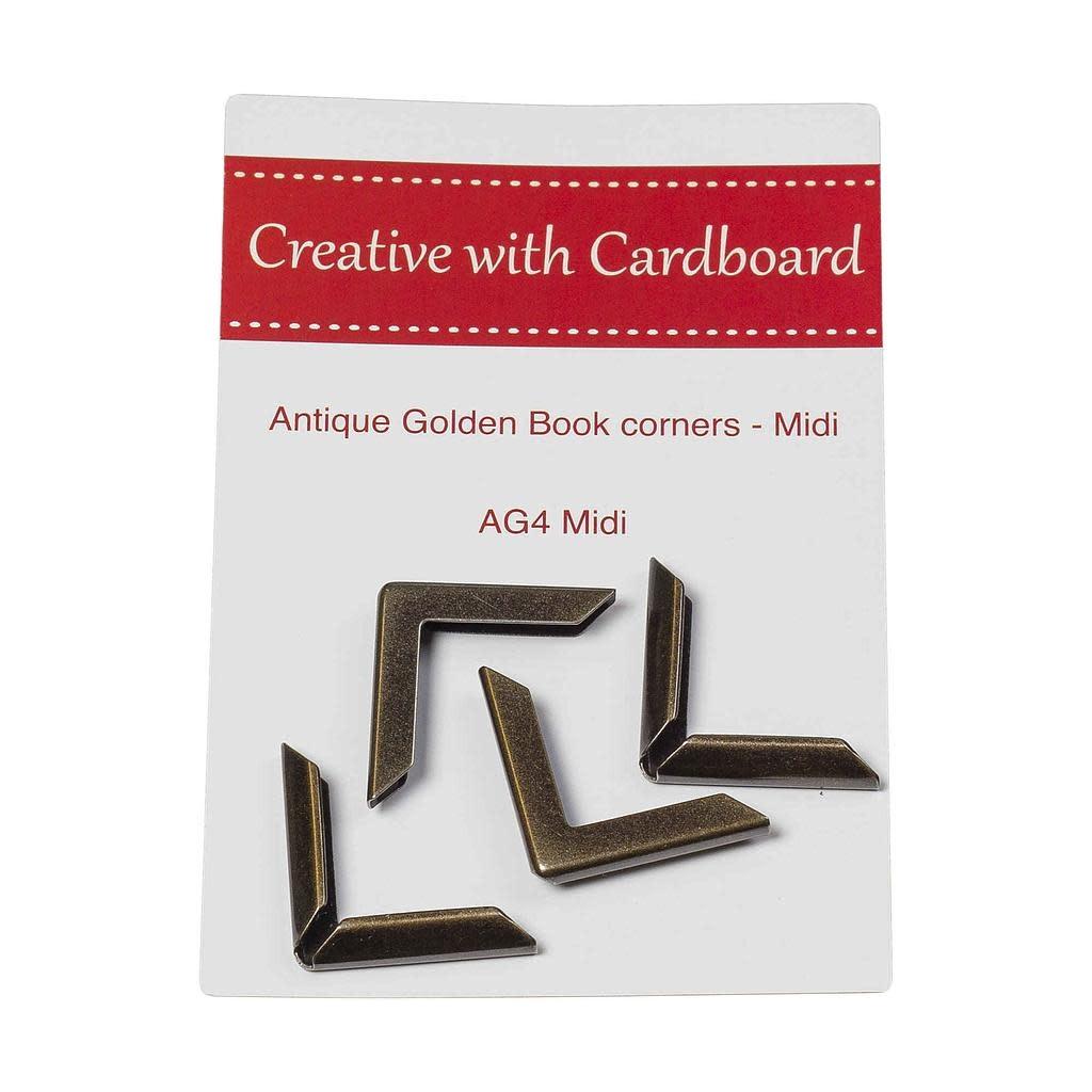 Antique Golden Book Corners - AG4 Midi