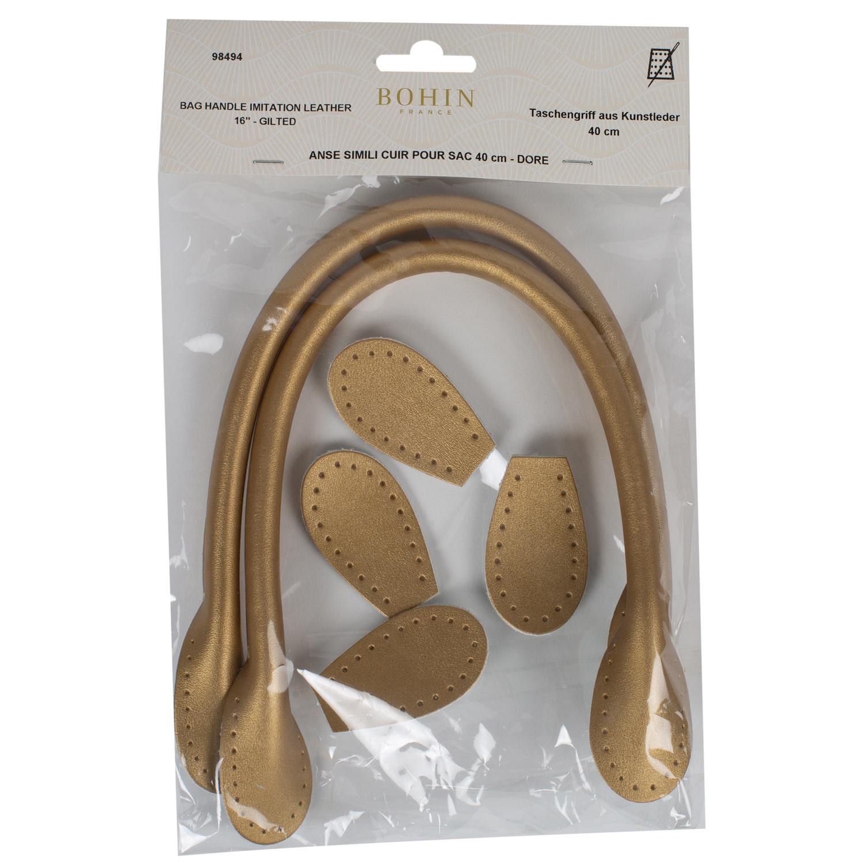 Bohin BAG HANDLE - LEATHER LOOK - 40cm - Gold - BOHIN