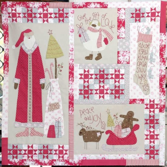 Christmas Blessings - Complete Kit Inclu. Linnen, Fabrics and Embroidery Floss