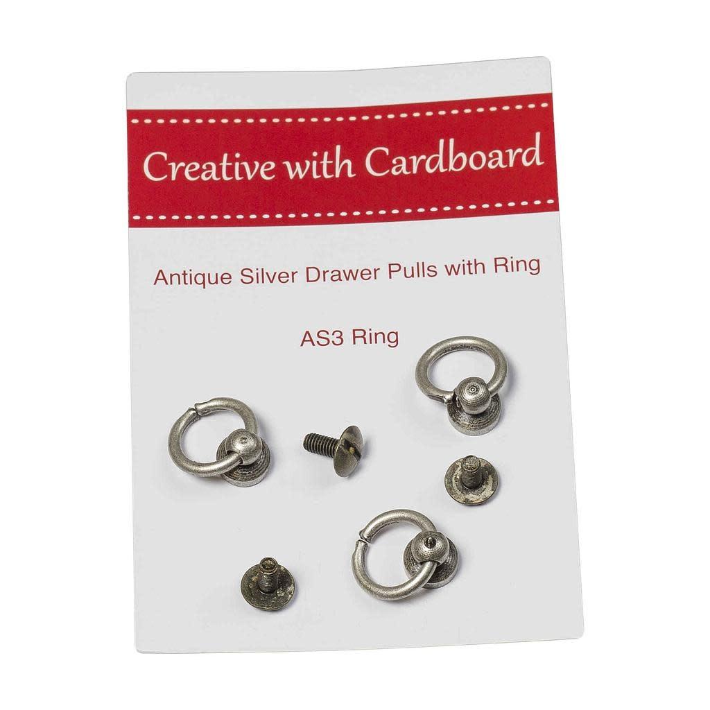 Antiek Zilveren Knop Met Ring