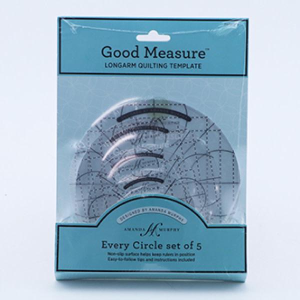 Amanda Murphy Rulers Circle Template Set (5 pieces) - Good Measure Amanda Murphy