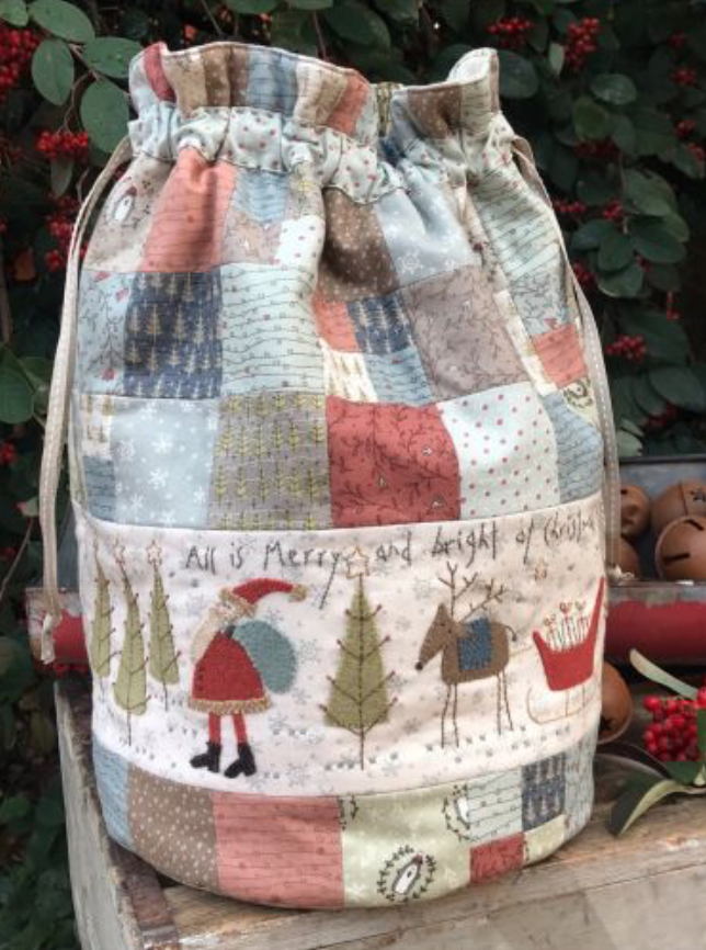 Hatched And Patched All Is Merry and Bright - Christmas Bag Pattern