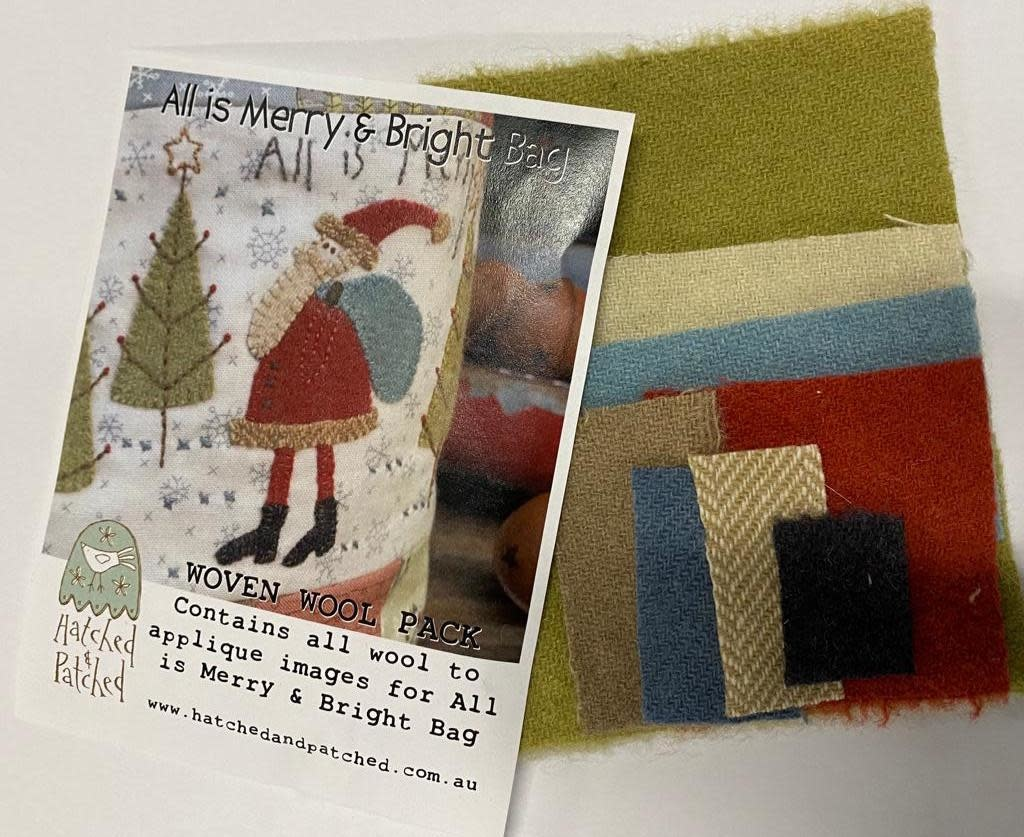 Hatched And Patched All Is Merry and Bright - Christmas Wool Pack