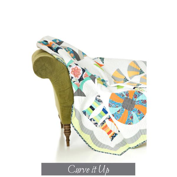 Sew Kind Of Wonderful Curve It Up (68x86 inch) - QCR Pattern