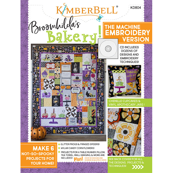 KimberBell BROOMHILDA'S BAKERY - EMBROIDERY CD AND BOOK