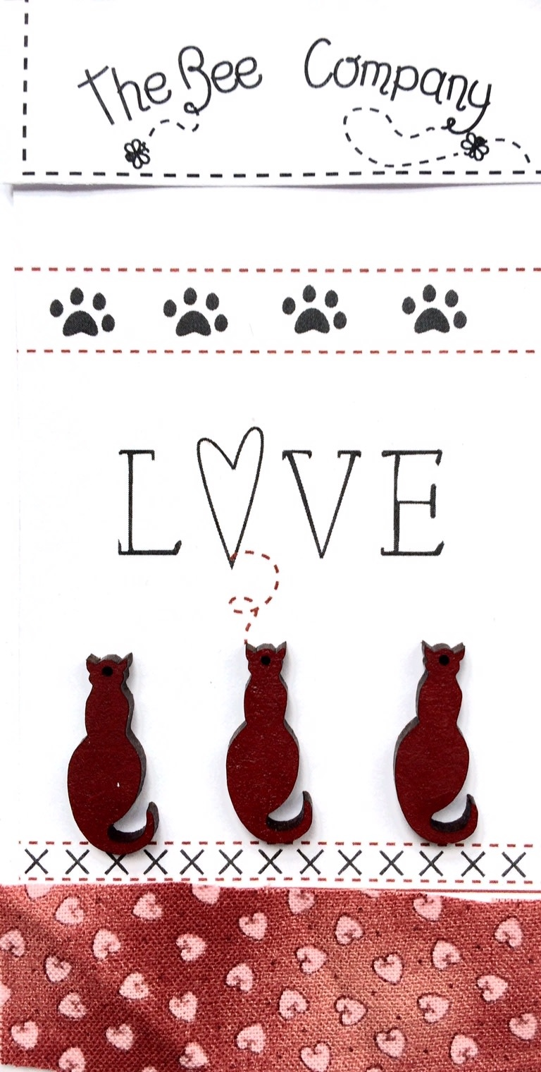 """The Bee Company """"Love"""" kattenknopen - Bordeaux - TBM26"""