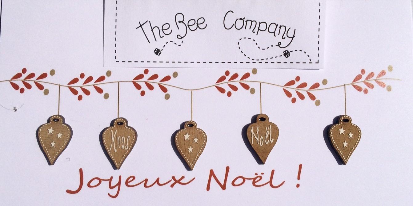 """The Bee Company Christmas ball buttons """"Merry Christmas"""" - TB4P2"""