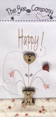 "The Bee Company Boutons "" Happy"" - TBM21"
